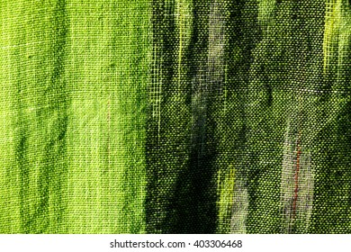 Green cotton fabric texture background