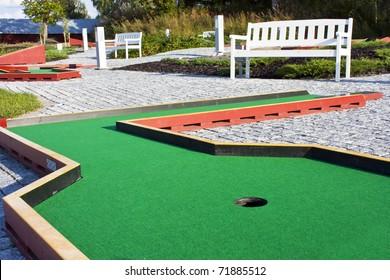 Green  course.