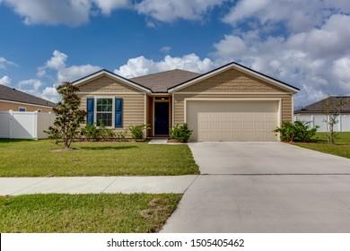 Green Cove Springs, Florida / USA - September 15 2019: Big house in Florida