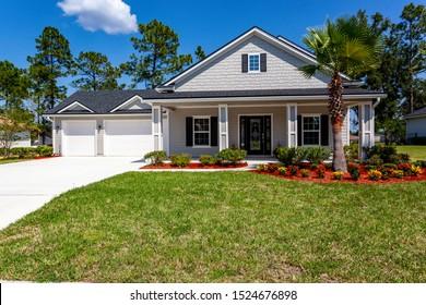 Green Cove Springs, Florida / USA - October 7 2019: Nice house in Florida