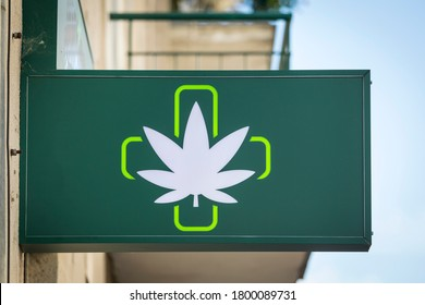 The green cross is a common symbol used in the marijuana community