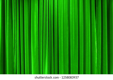 Green Curtain Stage