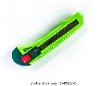 Green cutter, white background