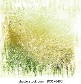 Green damaged background