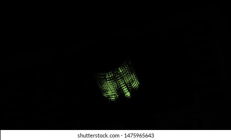 Green deem lights isolated object photo