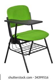 green desks under basket