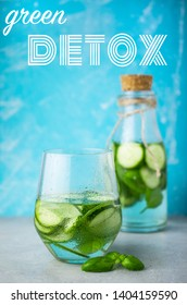 Green detox water with cucumber