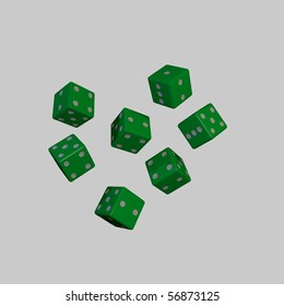 green dices