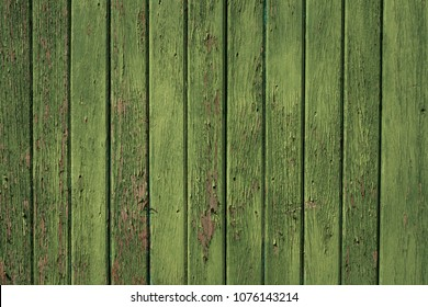 Green Distressed Wood Background Texture with Vertical Slats