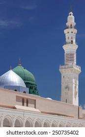Green Dome and a Minaret of Masjid Nabawi