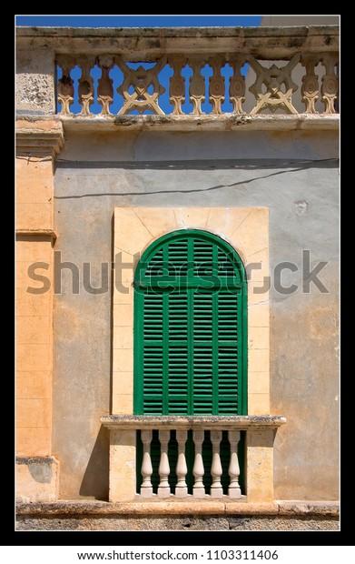 green door balcony