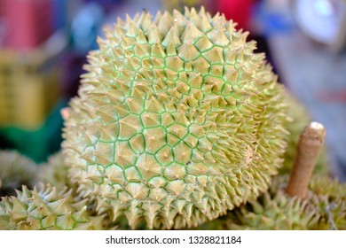 Green durian are selling at local market