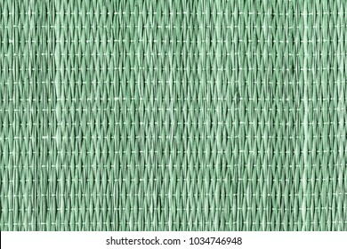 Green Dyed Plaited Interlaced Straw Place Mat Rustic Coarse Grunge Texture