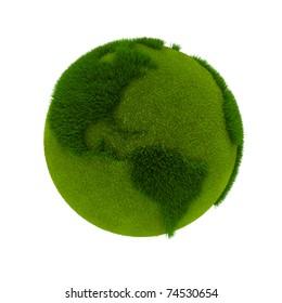 Green Earth. 3D rendering