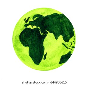 Green Earth in watercolor.