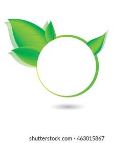 Green, eco, bio and organic label.
