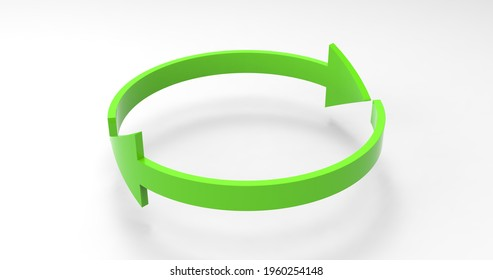 Green Eco Recycle Arrows, Recycled Icon and Rotation Cycle Symbol with Arrows - Shutterstock ID 1960254148