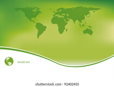 Green and ecological light background