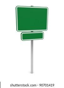Green Empty Billboard