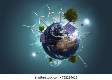 Green Energy (3D Rendering)