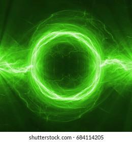 Green energy, abstract plasma power
