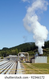 Green energy - geothermal power station