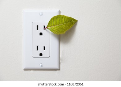 green energy / recycle - from outlet