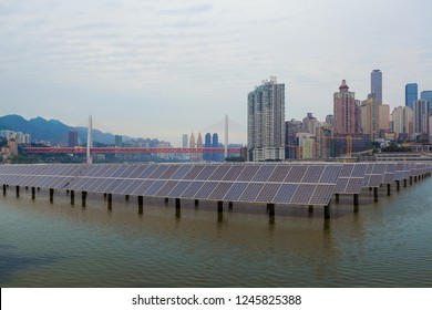Green energy and sustainable development of solar energy with Chongqing Skyline