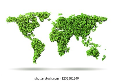 Green environment and ecology concept- 3D rendering