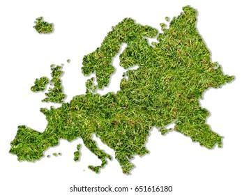 Green Europe map