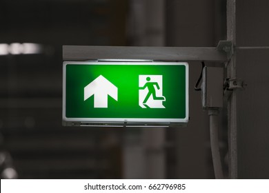 Green Exit Sign in industry