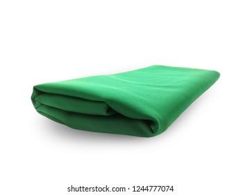 green fabric object make green screen