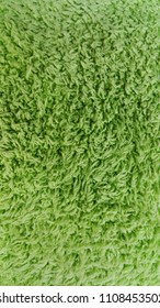 Green fabric texture backgrounds with macro close up