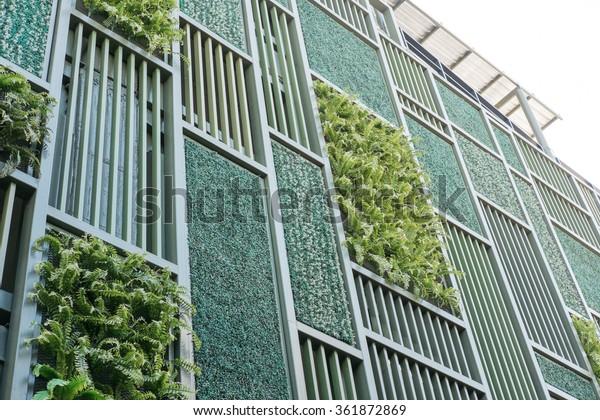 Green Facade Vertical Garden Architecture Stock Photo Edit Now