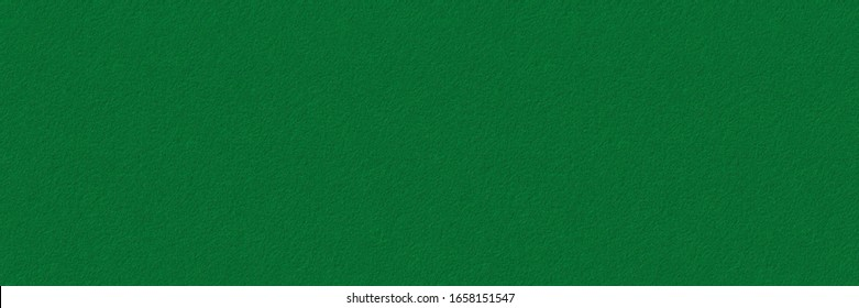 Green felt background texture. Surface of  snooker or poker table. Wide panoramic banner.