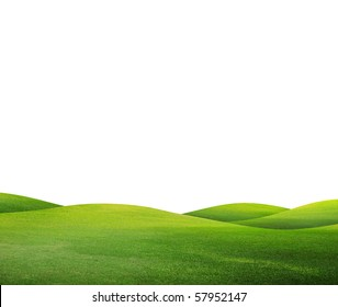 green field isolated against a white background