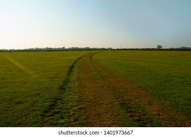 Green field in Rutland, England