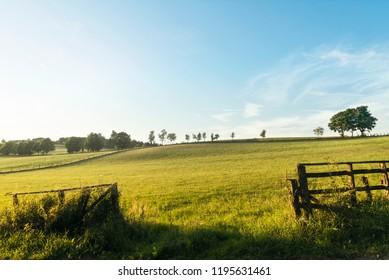 Green field in Winterberg Germany