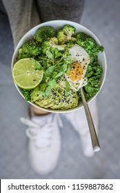 Green Fitness Breakfast Bowl and Active Wear