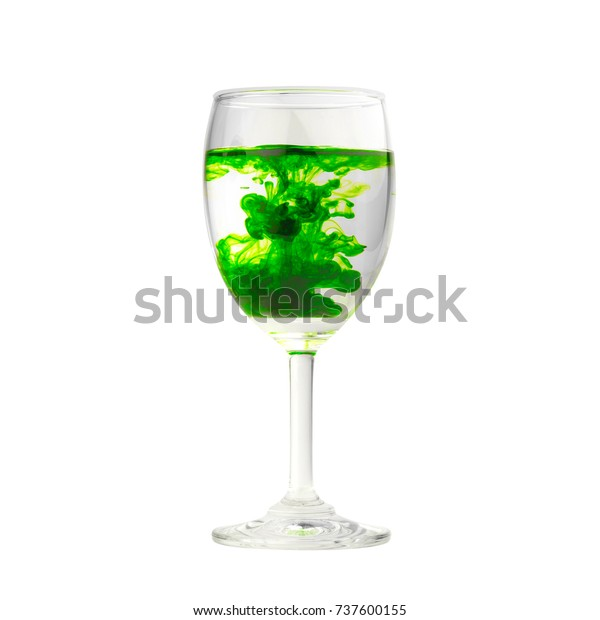 Green Food Coloring Diffuse Water Inside Stockfoto (Jetzt bearbeiten ...