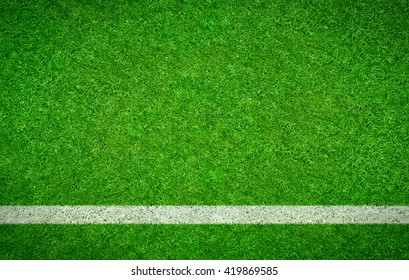 Green Football background with a horizontal line