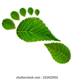 Green footprint, eco concept