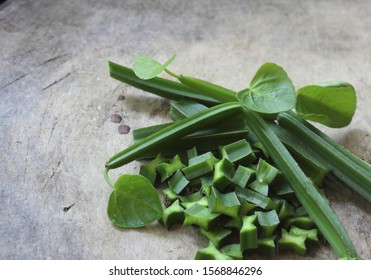 Green fresh of Cissus Quadrangularis Linn.( Edible - Stemed Vine ) herb for pain treatment.