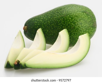 green fresh organic california ripe avocado isolated