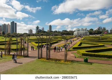 Green Gardens of Curitiba Botanical Garden, Brazil.