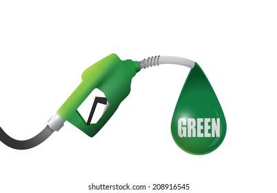 green gas pump illustration design over a white background