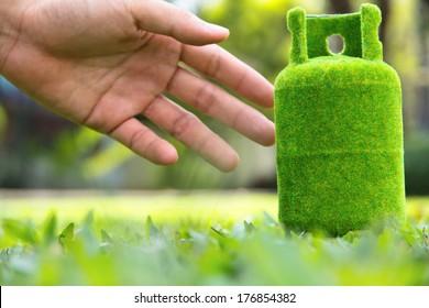 green gas tank concept.