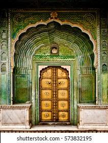 Green gate City Palace Jaipur, India
