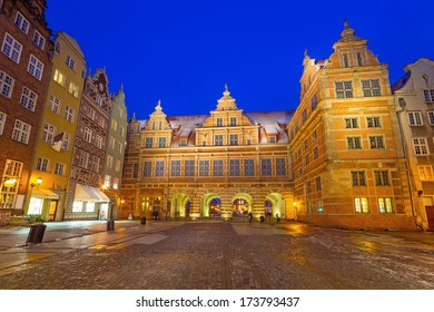 The Green Gate in old town of Gdansk, Poland