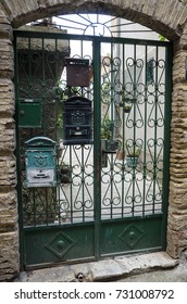 The green gate in the Old Town. Herceg Novi. Montenegro.